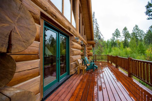 Wrap Around Deck at this Luxury Montana Vacation Rental House